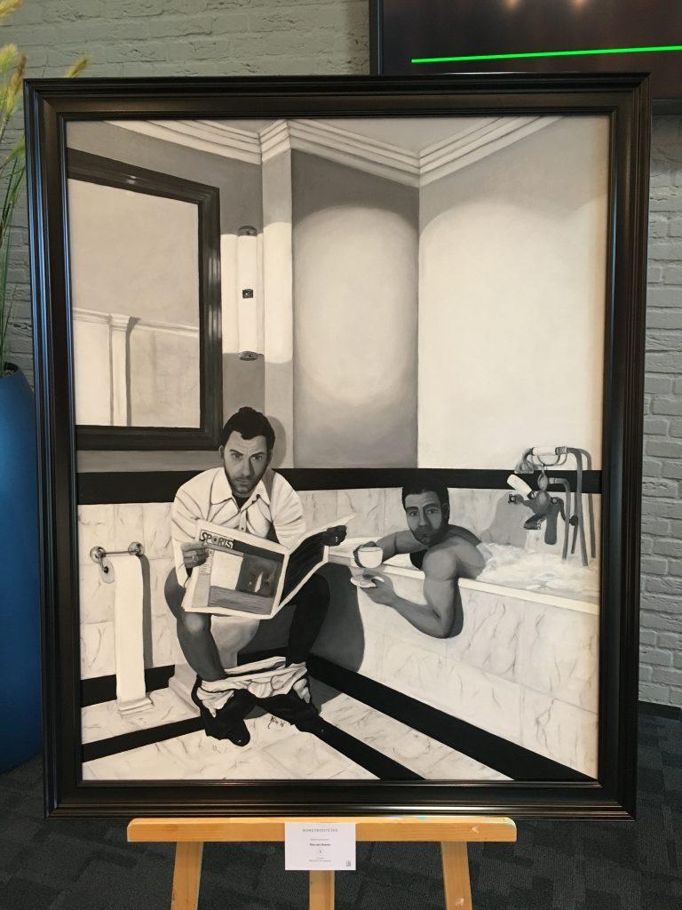 Men bathroom 'the fallen'