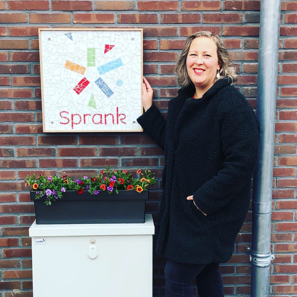 Gevelbord Stichting Sprank