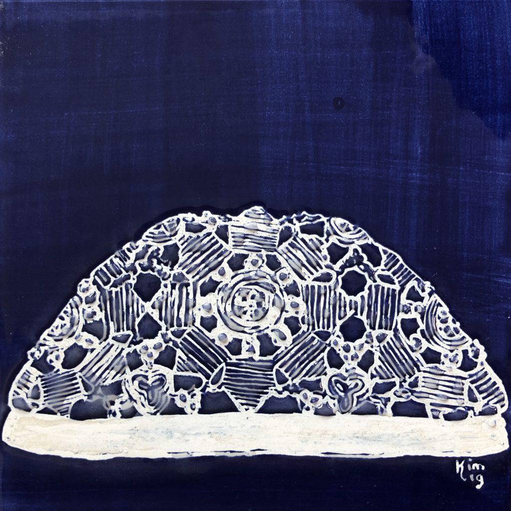 Ongermuts dârps blauw 1 tegel