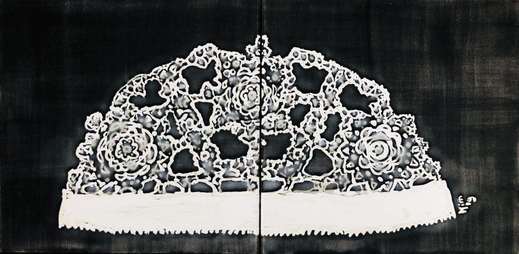 Ongermuts zwart 2 tegels