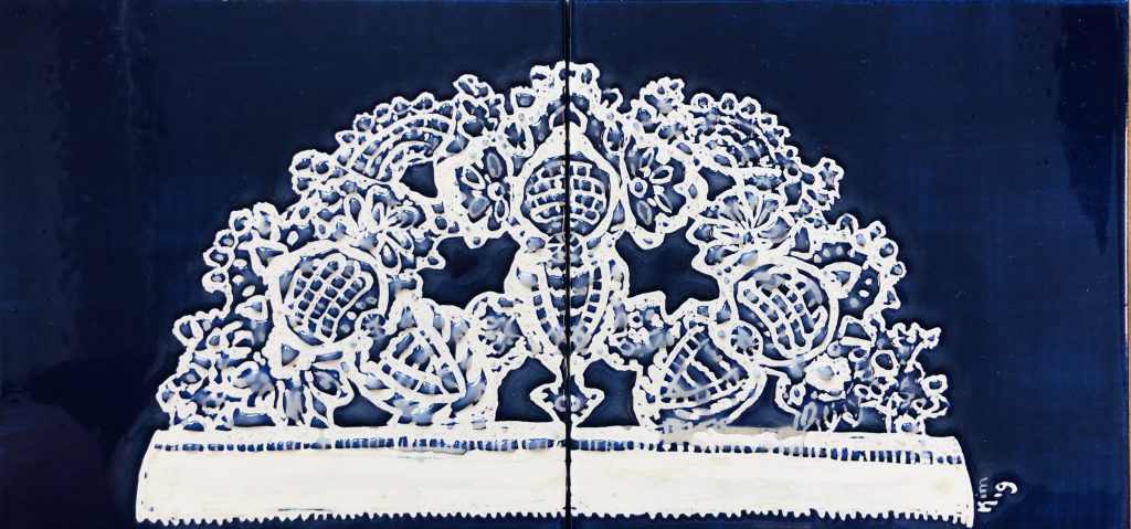 Ongermuts dârps blauw nr.1 2 tegels