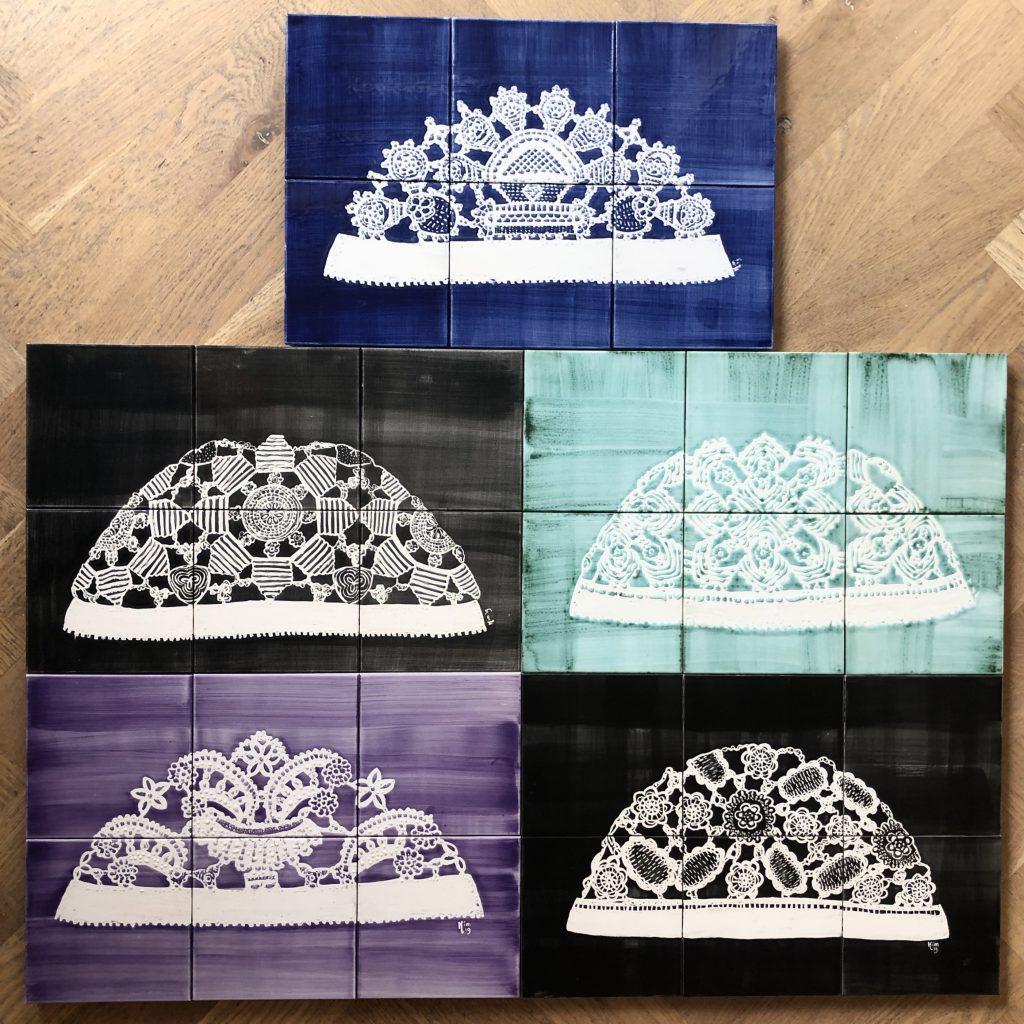 Collectie ongermutsen 6 tegels