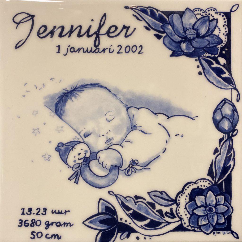 Geboortetegel Jennifer