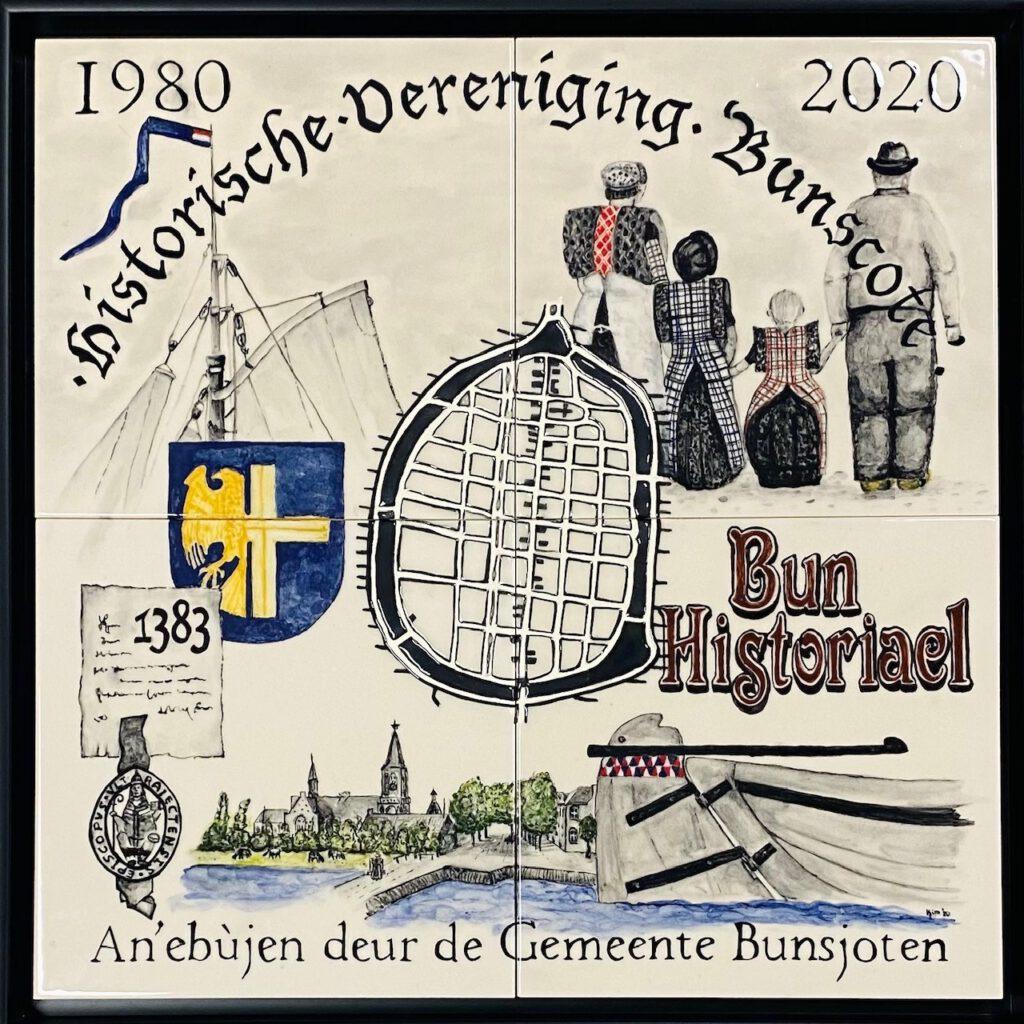Jubileumtableau Historische Vereniging Bunscote