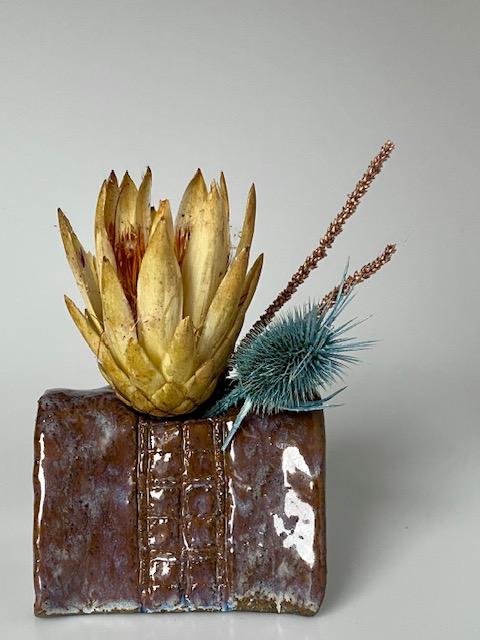 Krâplâp vaas grote bloem